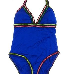 La Blanca Women's V-Neck One Piece Swimsuit